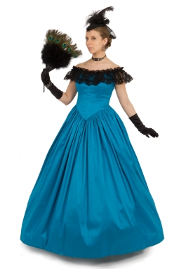 Dupioni Victorian Ball Gown