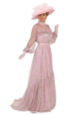 Silk Chiffon Edwardian Gown