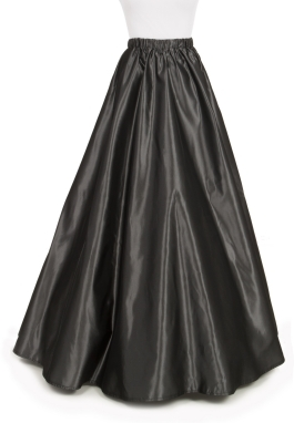 Simple Victorian Taffeta Skirt