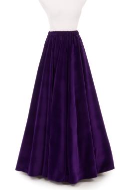 Three Gored Velvet Skirt