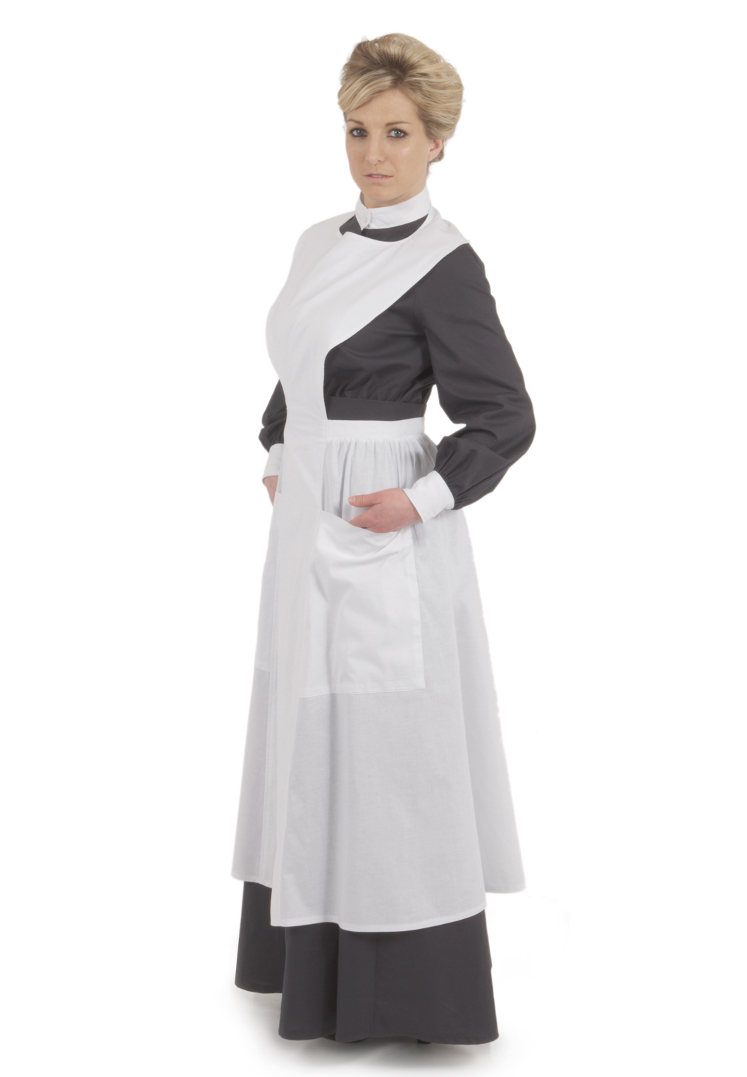 Edwardian white apron - Hallie Edwardian Apron
