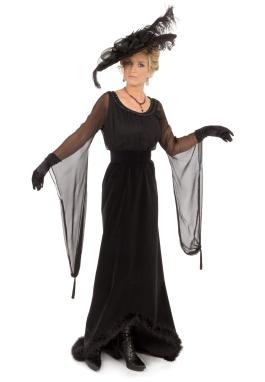Violette Edwardian Black Dress