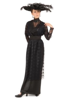 Olivia Edwardian Lace and Satin Dress