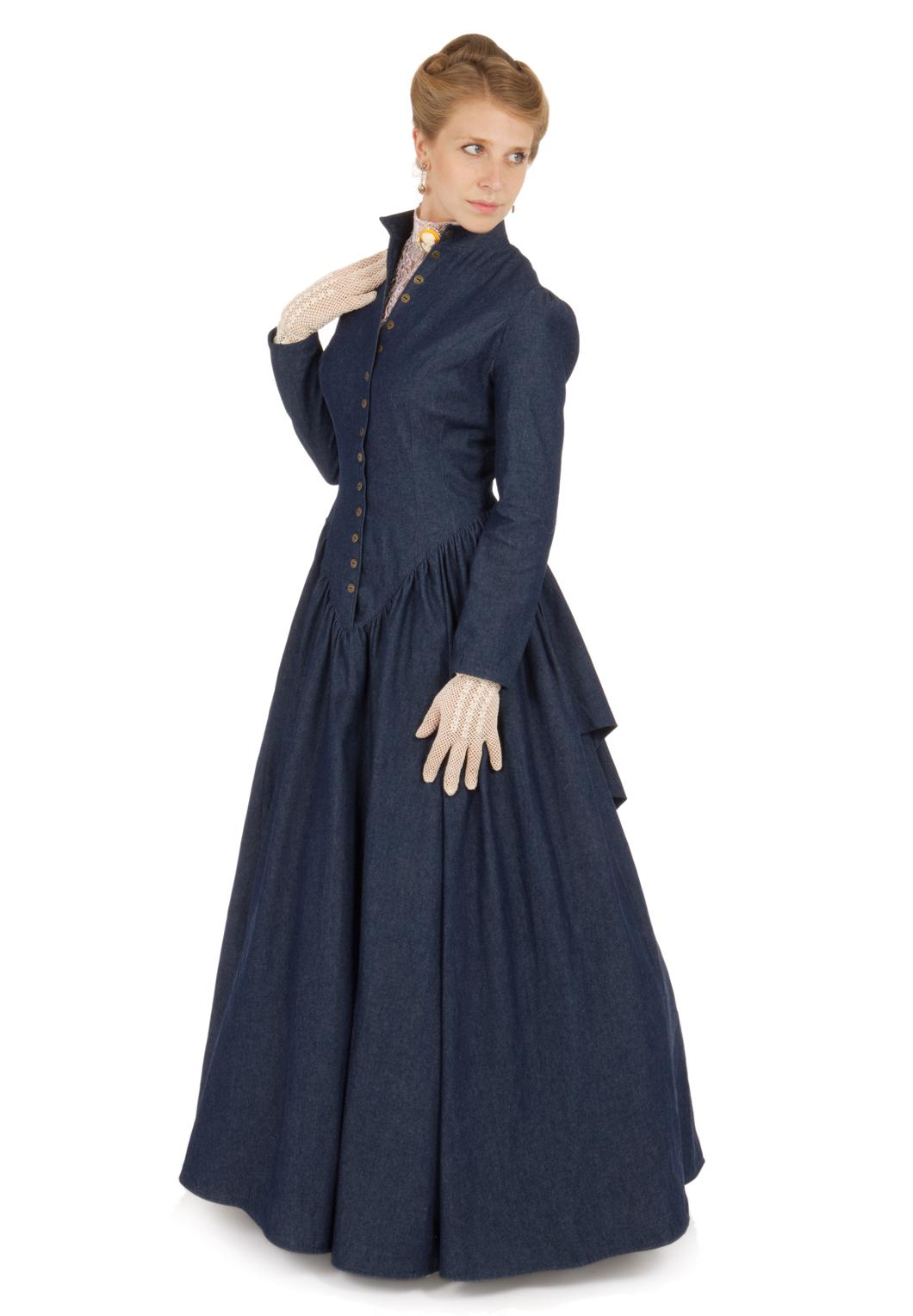 Retta Victorian Denim Dress   Recollections