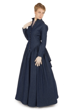 Retta Victorian Denim Dress