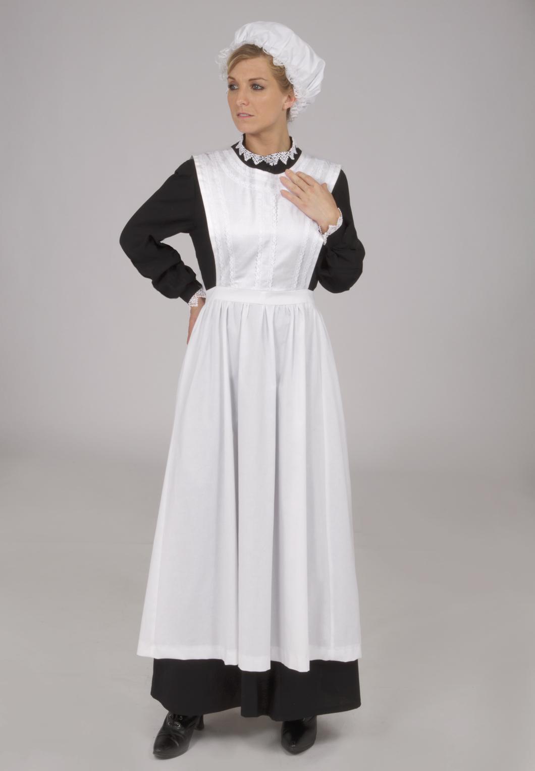 Edwardian white apron - Agatha Downton Abbey Styled Maid S Uniform 159 95 Marta Edwardian Blouse