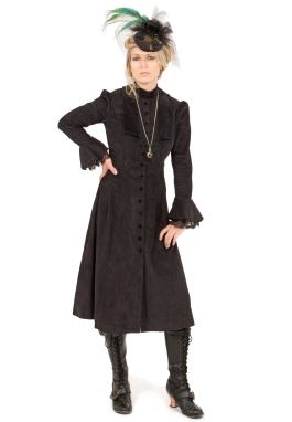 Clementine Steampunk Corduroy Dress