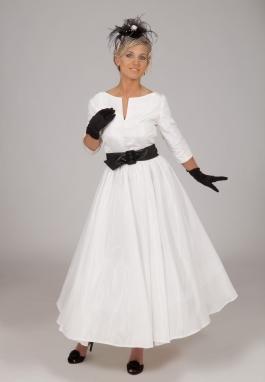 50's White Retro Dress