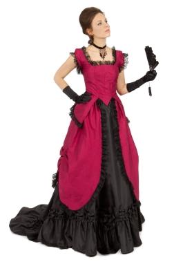 Felicity Silk Bustle Victorian Ensemble
