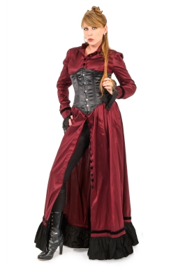Steampunk Victorian Gown with Cincher