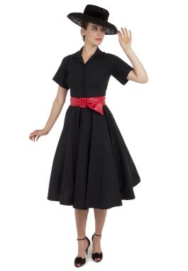 Claudette Retro Black Dress