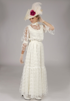 Chantilly Lace Edwardian Dress