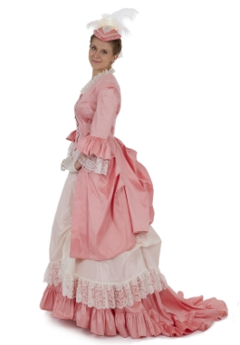 Perla Victorian Polonaise Bustle Dress