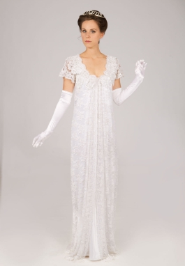 Beaded Lace Edwardian Era Dress