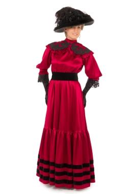 Edwardian Satin Gown