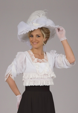 Edwardian White Batiste Blouse