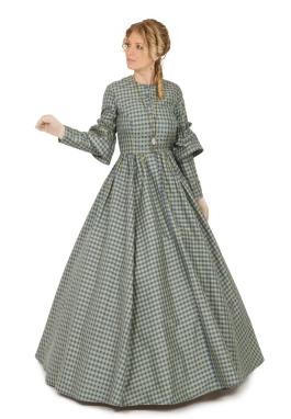 Rowena Silk Plaid Victorian Dress