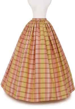 Virginia Silk Plaid Civil  War Skirt