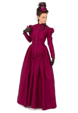 Victorian Silk Dress