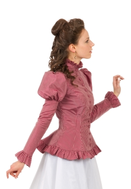 Silk Stripe Victorian Top