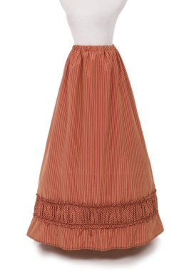 Silk Stripe Victorian Skirt