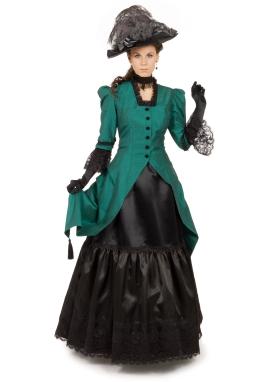 Victorian Silk Polonaise