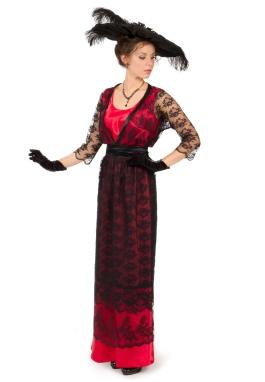 Satin and Lace Edwardian Dress