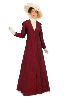 Edwardian Silk Dress with Beaded Chemisette