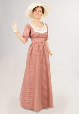 Silk Stripe Edwardian Dress
