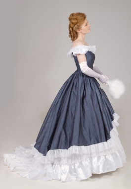 Victorian Silk Ball Gown