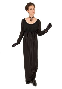 Black Edwardian Dress