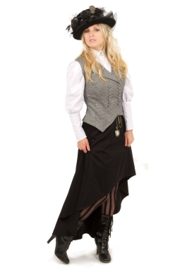 Steampunk Vest, Skirt, and Blouse