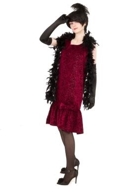 Velvet Scroll Flapper Dress
