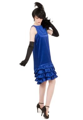 Satin Ruffle Flapper Dress