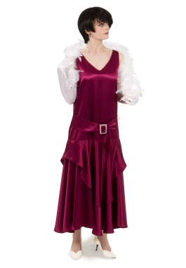 Satin Flapper Dress