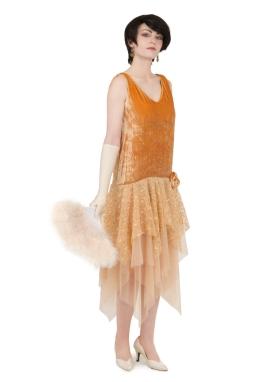 Velvet and Lace Flapper Dress