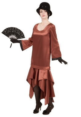 Satin Long Sleeve Flapper Dress