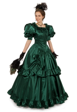 Magnolia Victorian Satin Ball Gown