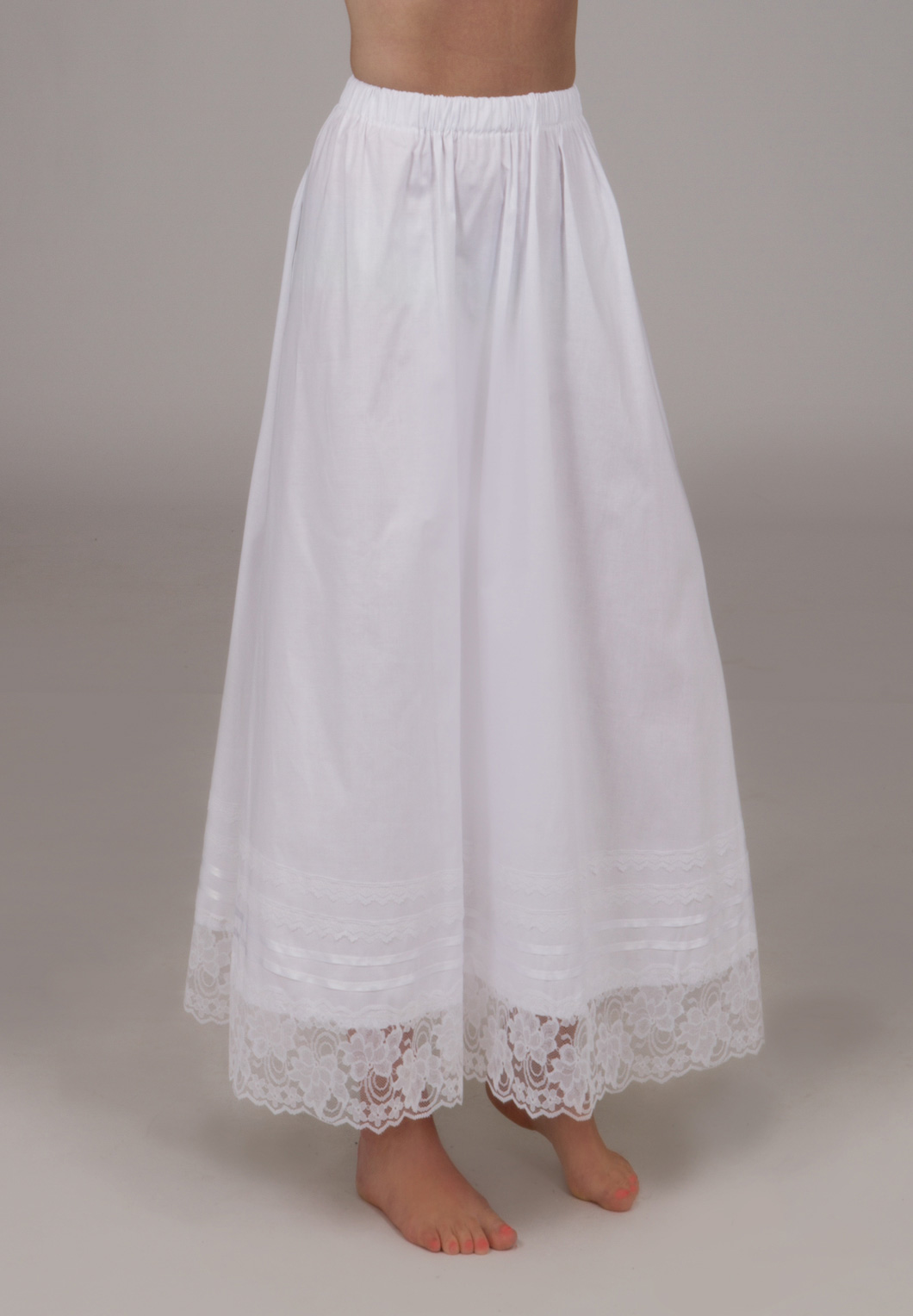 Victorian Cotton Skirt Petticoat