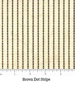 Brown Dot Stripe