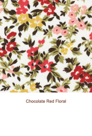 Chocolate Red Floral