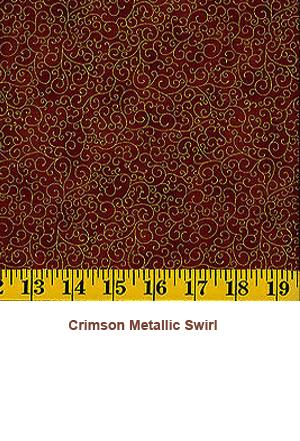 Crimson Metallic Swirl