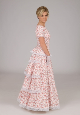 Victorian Styled Print Top and Skirt