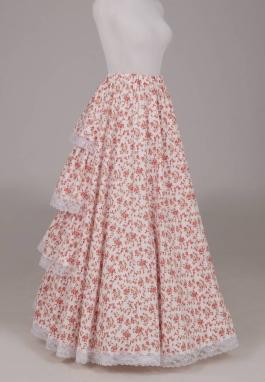 Ruffled Print Victorian Skirt
