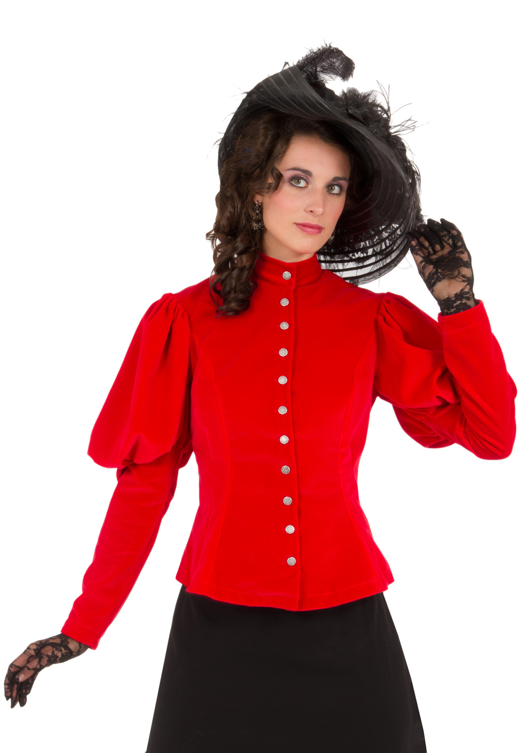 High Collar Victorian Velvet Jacket