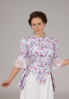 Victorian Styled Print Top
