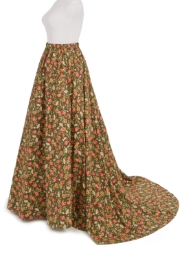 7-Gored Victorian Calico Skirt