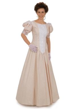 Classic Print Victorian Dress