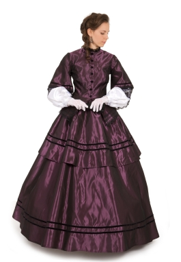 Victorian Civil War Taffeta Gown