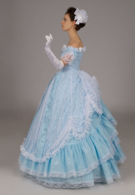Victorian Lace Ball Gown